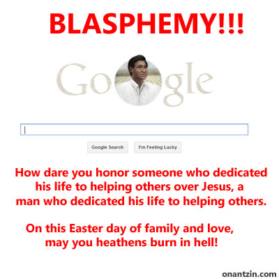 Meme - Cesar Chavez Blasphemy