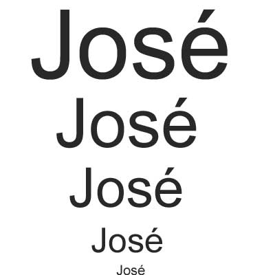 the name Jose has become Jose Name