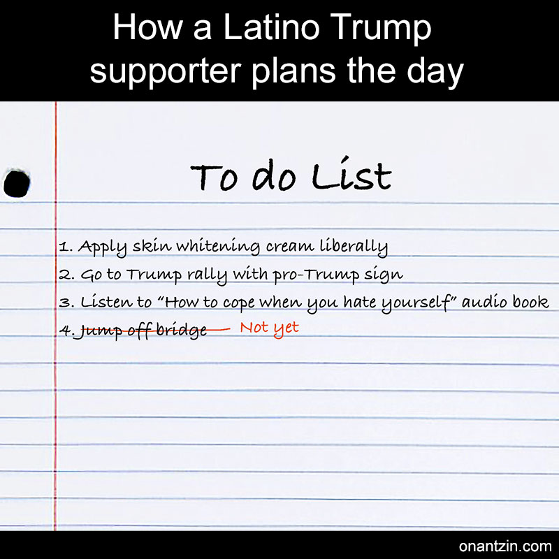 How a Latino Trump supporter plans the day